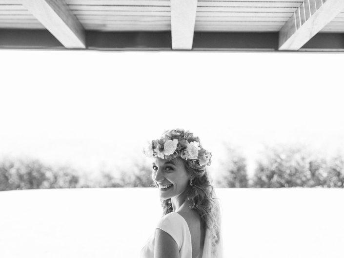 Novia en boda en Oviedo Asturias Oliveira foto fotografo de bodas