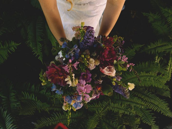 wedding bouquet in california