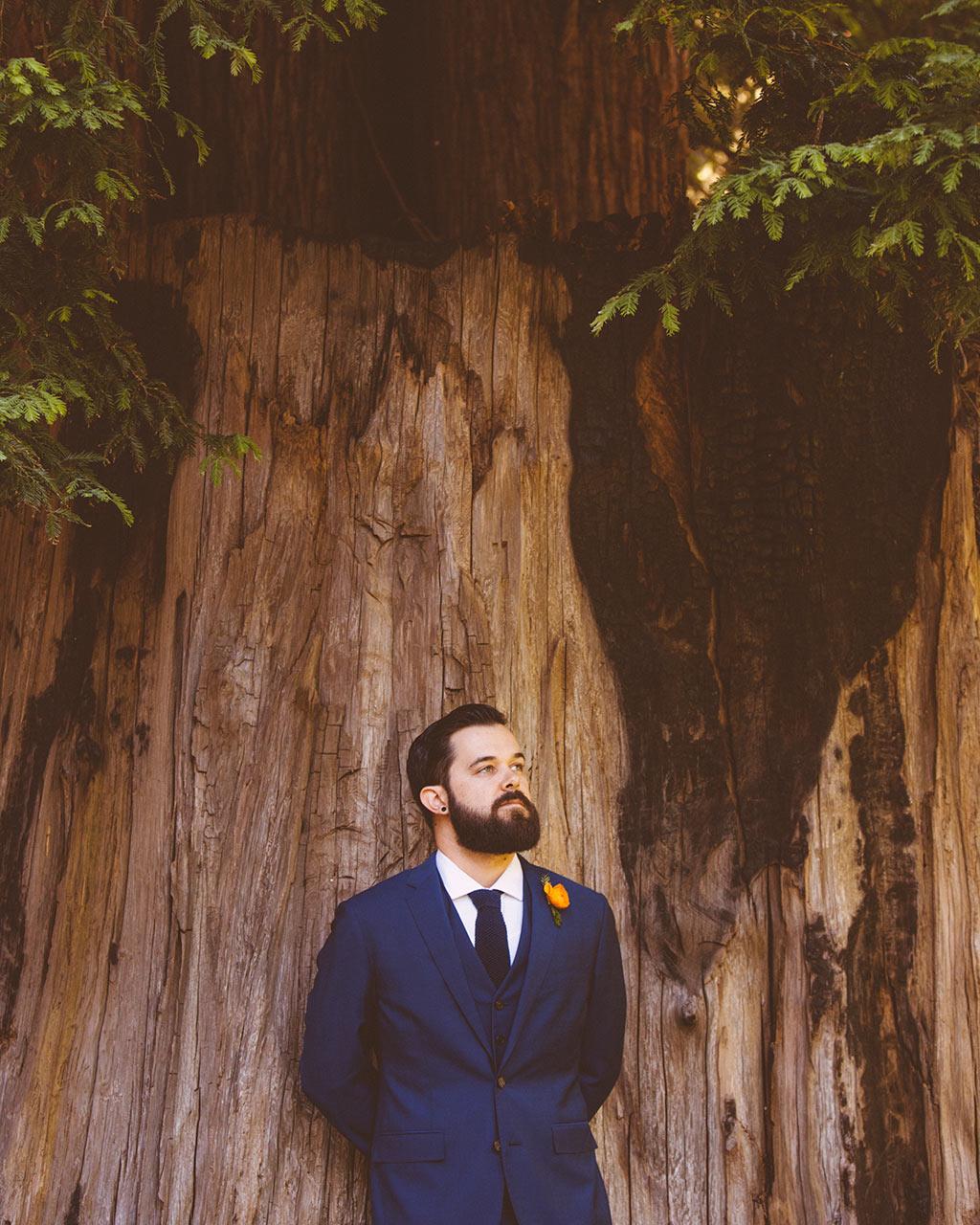 novio boda en un bosque de sequoias california fotógrafo de bodas asturias