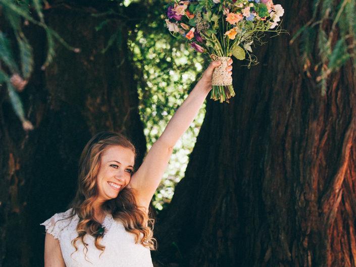 novia boda en un bosque de sequoias california fotógrafo asturias