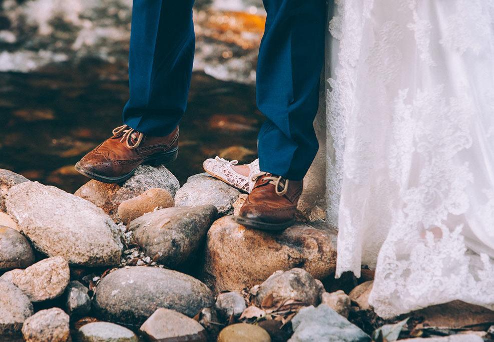 fotografo de bodas boda en un bosque
