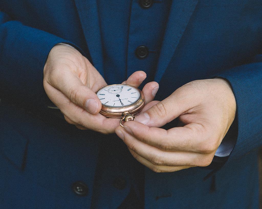detalle boda reloj novio