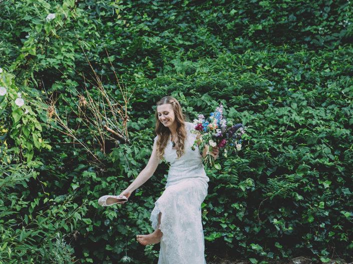 novia boda en un bosque de sequoias california fotografo de bodas