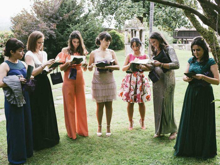 detalle damas de honor boda palacio de meres