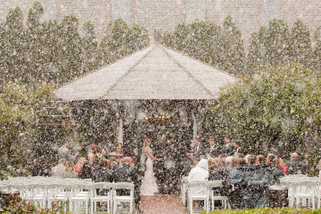 boda nevando en estados unidos