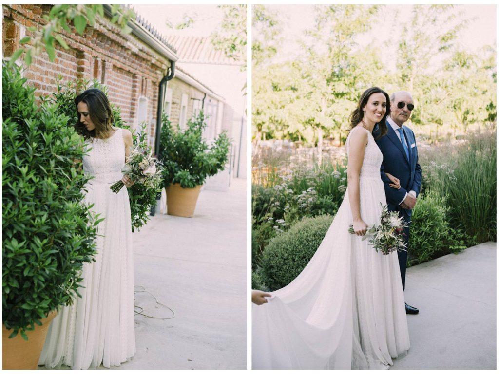 novia y padrino vestido