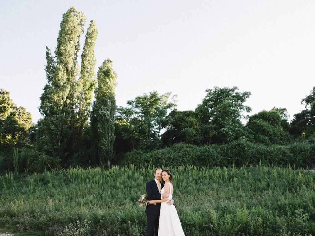 foto de boda al aire libre en Madrid