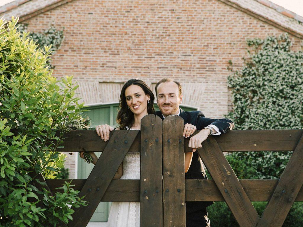 novios en su boda matrimonio madrid
