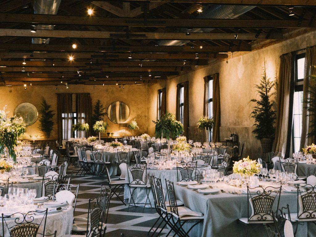 salón y decoración en boda en finca las tenadas Madrid