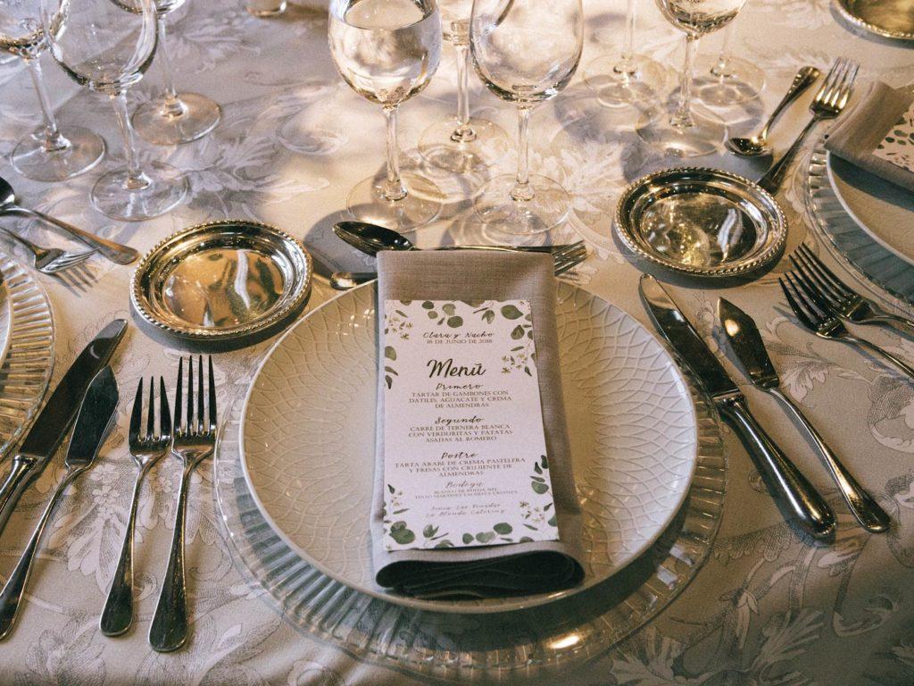 menú de boda finca las tenadas